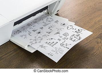 Tafel Voor Printer : Tafel printer eenvoudig kantoor desktop