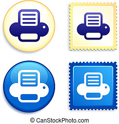 Printer on Stamp and Button