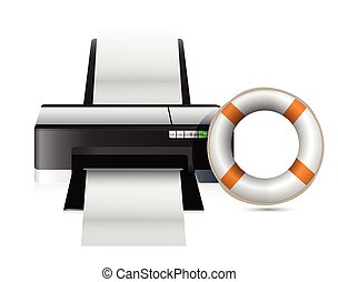 printer sos concept