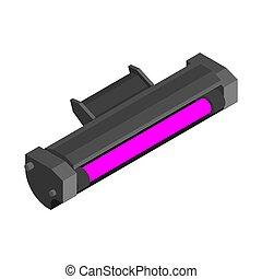 Printer toner cartridge Magenta isolated. ink Laser Jet ...
