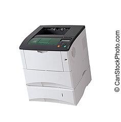 printer under the white background.