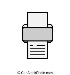 printer vector design template illustration