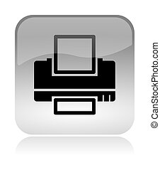 Printer web interface icon - Printer white, transparent and ...