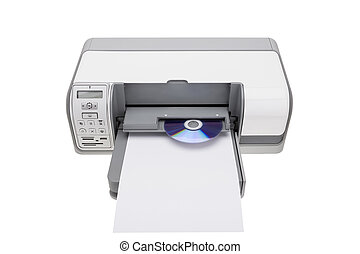 Printer with the ability to print on CDs. For offices.