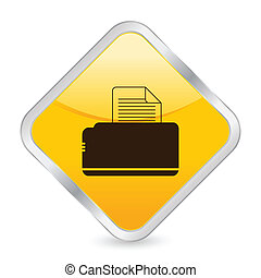 printer yellow square icon