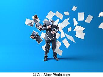 Printing A businessman