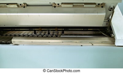 Printing and folding machine for big size drawing and draft...