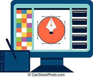 Printing and graphic design concept.