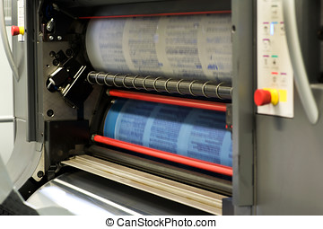 Printing Documents Using Rotary Press Machine - Printing...
