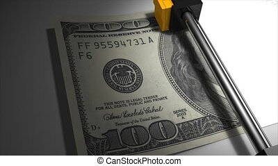 Printing dollar - Artist impression, money printing...