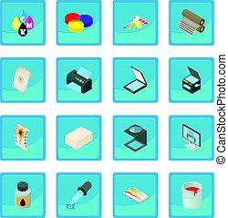 Printing icon blue app