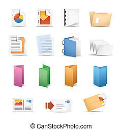 Printing Icons - Icon Set for press & Office