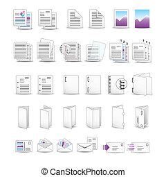 Icon set for printing utilities.