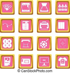 Printing icons pink