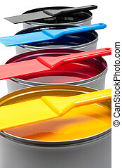 Printing inks on white background - Printing inks isolated ...