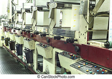 Printing labels on offset machine