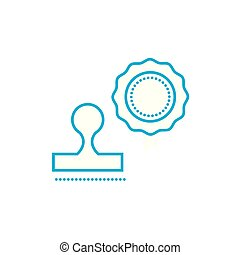 Printing linear icon concept. Printing line vector sign, symbol, illustration.