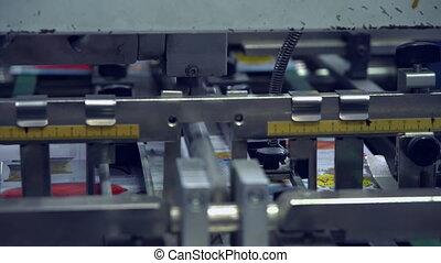 printing machine close up - press typography equipment...