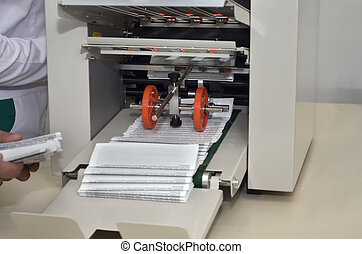 Printing machine for instructions in pharmaceutical factory
