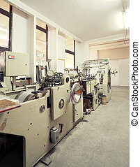 Printing machine - Details of a printing machine inside...
