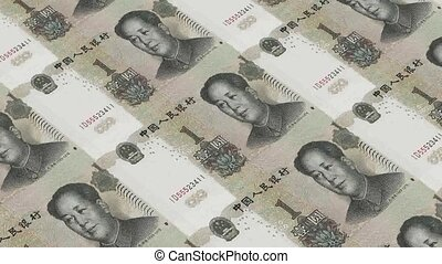 Printing Money Animation,1 RMB bill