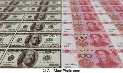 Printing Money Animation,100 dollar