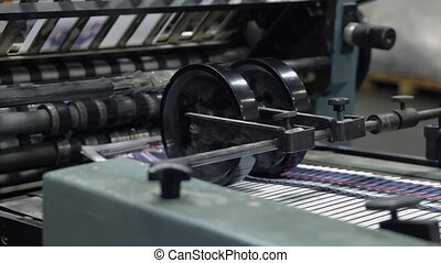 printing newspaper - typography machine working print...