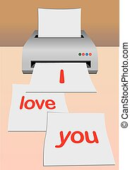 Printing of love letter
