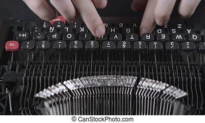 Printing on old typewriter - Printing on an old typewriter,...