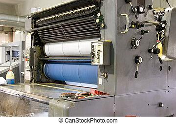 Printing Press - A printing press in action