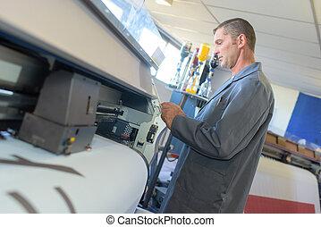 printing press employee
