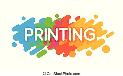 Printing Studio Logo. Vector colorful illustration on a white background in a flat style.