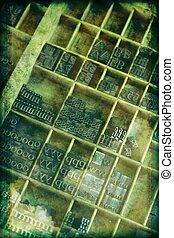 Grunge Letterpress Background