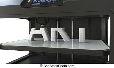 Printing white ART text with a 3D printer, time-lapse...