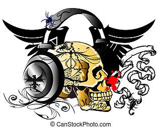 Printphon & skull
