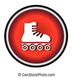 PrintRoller skates sign icon