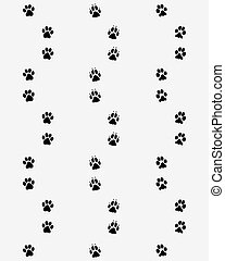 Prints of dog paws