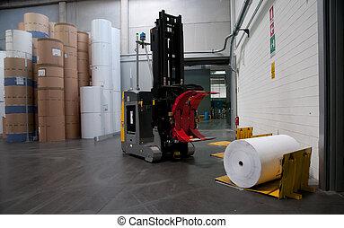 Printshop: Automated warehouse (for paper)