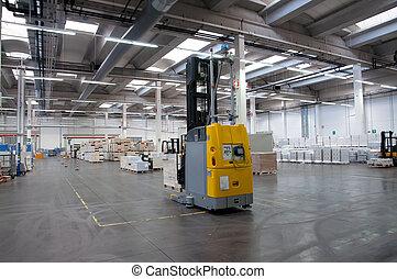 printshop:, automatisé, entrepôt, (for, paper)