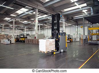 printshop:, automatizado, almacén, (for, paper)
