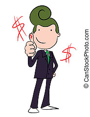 Printvector character of businessma