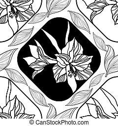 Printvector floral pattern
