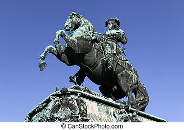 The famous sculpture of Prinz Eugen from the 18th century at Heldenplatz, Vienna