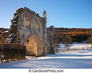 priorato, inglaterra, kirkham, -, yorkshire, ruinas