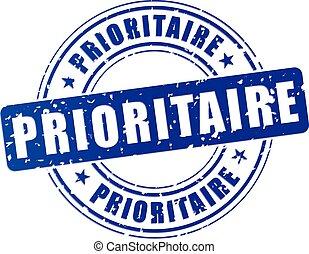 priorità, blu, francobollo