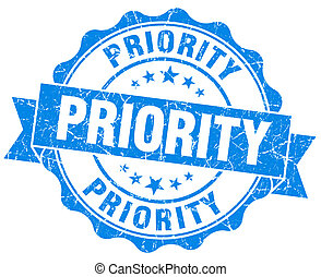 priorità, francobollo, grunge
