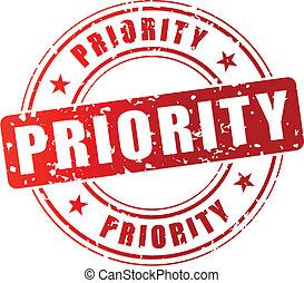 priorità, francobollo, vettore