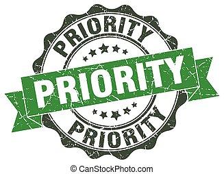 priorità, segno., stamp., sigillo