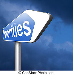 priorities sign important very high urgency info highest ...