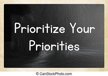prioritize your priorities